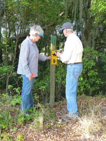 Marking new trails at Tenoroc