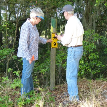 Marking new trails at Tenoroc