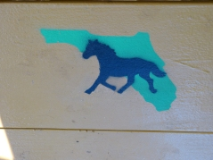 The Florida Sport Horse Club logo is stenciled on the table