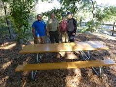 Adam Spaulding, Park Manager Scott Spaulding, Janet Schneider, and FSHC President Mike Charron