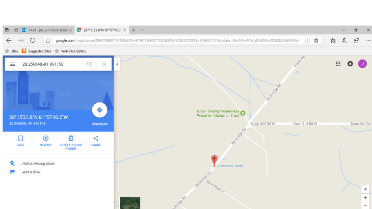 GPS panic map
